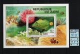 Timbre Africa, Congo / Zair, 1980   Peşti exotici, faună marină   Coliţă - MNH, Fauna, Nestampilat