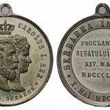 Medalie Proclamarea Regatului 14 Martie 1881 Regele Carol si Regina Elisabeta
