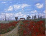 Tablou – pictură pe pânză, peisaj impresionist