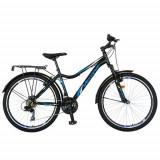 Cumpara ieftin Bicicleta Oras Velors V2433B, roti 24 inch, 18 viteze, cadru 17inch, frane V-Brake (Negru/Albastru)