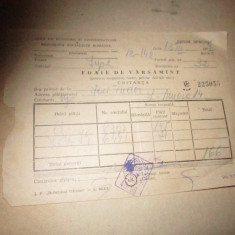 Fila cec foaie de varsamant comunism 13 buc n10, Romania de la 1950