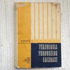 Tehnologia produselor fainoase moldoveanu manual licee specialitate anul V RSR, Alta editura, 1971