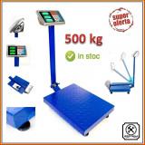 CANTAR ELECTRONIC 500 KG CU PLATFORMA, TABLA STRIATA