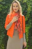 Geaca orange Monte Cervino scurta, cu maneci 3 4, M, S, XL, Portocaliu