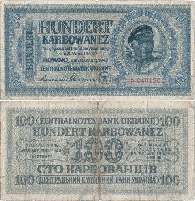 1942 ( 10 III ), 100 karbowanez ( P-55 ) - Ucraina