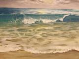 """""""Last wave"""". Pictura acril pe panza. Dimensiuni 50/50 cm."""