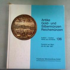 ANTIKE GOLD-UND SILBERMUNZEN REICHSMUNZEN MAI 1991 (CATALOG EXPOZITIE MONEDE VECHI)