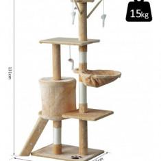 Ansamblu de joaca pentru pisici cu sisal, cu 1 casuta, Pawhut, D30 – 1