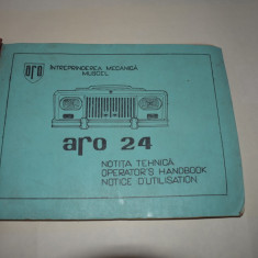 ARO 24 manual notita/ carte tehnica