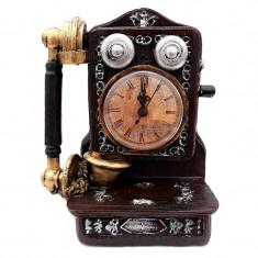 Telefon retro cu ceas, Maro, 621E