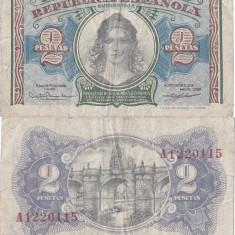 1938, 2 pesetas (P-95) - Spania