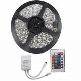 KIT Banda LED RGB 72W Exterior 60 LED-uri/m 5 metri cu Telecomanda si Alimentare