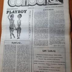 ziarul corida anul 1,nr.1 din  aprilie 1990-prima aparitie