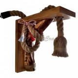 Lampa-aplica rustica pentru perete, din lemn, cod aac0148