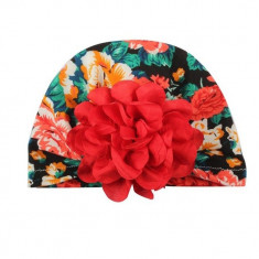 Turban cu floare rosie