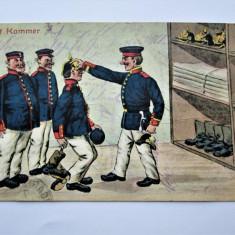 Carte Postala Militara, Germania 1914: Caricatura Militara - Recruti