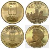 Romania, lot 2 monede de 50 bani 2019 UNC_varianta comună și Regina Maria