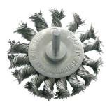 Perie sarma impletita cu tija Proline, tip circular, 75 mm