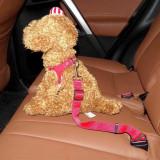 Lesa centura de siguranta auto pentru animale de companie-roz