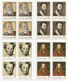 Romania, LP 776/1971, Aniversari I - Pictori, blocuri de 4 timbre, MNH, Nestampilat