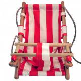 Cumpara ieftin Leagan pentru copii, textil/lemn,rosu, max 70 kg, 36x24x45 cm, Strend Pro