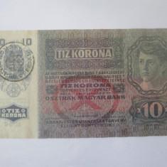 Cumpara ieftin Austro-Ungaria 10 Kronen/Korona/Coroane 1915 cu Timbru Special Romania
