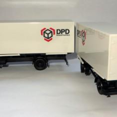 Herpa ( AWM ) Herpa MAN F90 container cu remorca curier DPD   1:87