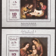MANAMA 1969 PICTURA ( 2 colite ndt. deluxe ) MNH