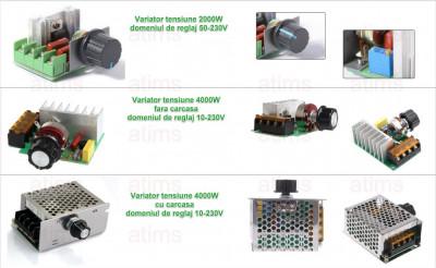 Variator tensiune Regulator turatie dimmer AC 60-220V 2000 / 4000W foto