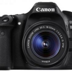 Aparat Foto DSLR Canon EOS 80D + Obiectiv EF-S 18-55mm, 24 MP, Full HD, WiFi (Negru)