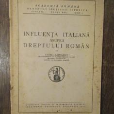 INFLUENTA ITALIANA ASUPRA DREPTULUI ROMAN-ANDREI RADULESCU