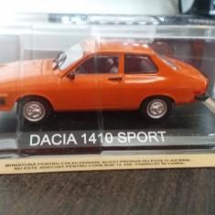 macheta dacia 1410 sport deagostini masini de legenda romania - 1/43, noua.