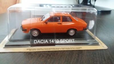 macheta dacia 1410 sport deagostini masini de legenda romania - noua, 1/43. foto
