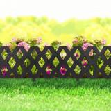 Bordura pt. pat de flori gard - extensibil, 60 x 22 cm - Negru