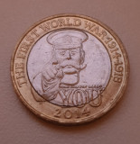 2 pounds / lire 2014 Marea Britanie , Lord Kitchener.