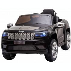 Masinuta electrica Premier Jeep Grand Cherokee, 12V, roti cauciuc EVA, scaun piele ecologica, negru