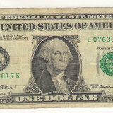 Bancnota -USD- Statele Unite ale Americii 1 Dolar $ - 1999 / A022
