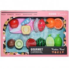 Fructe pretaiate, cutit, tocator, prindere cu arici, 1 set/cutie