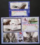 TONGA- Dezastrul Titanic,1 M/Sh.+1 S/Sh.Neobliterat--T 41