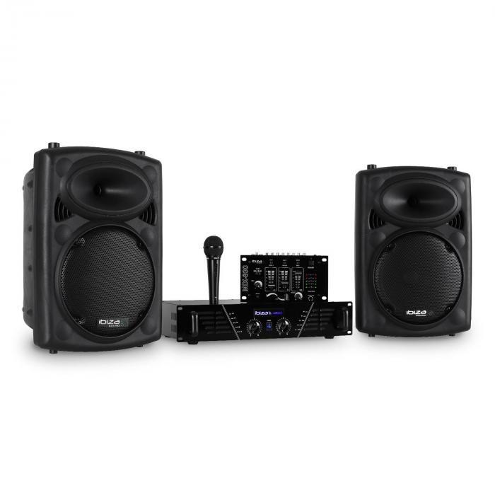 Ibiza DJ300MK2 set de muzică disco AUX MIC