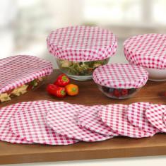 Capace de plastic reutilizabile pentru alimente
