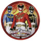Farfurii petrecere copii 23 cm Power Rangers, Amscan 552532, Set 8 buc