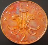 Moneda 2 (TW0) NEW PENCE- ANGLIA / MAREA BRITANIE, anul 1971 *cod 721 - A.UNC, Europa, Bronz
