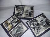 Lot 3 file album cu 6 fotografii masinute vechi copii,calut,caprioara,T.GRATUIT