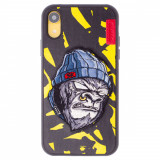 Husa Hard iPhone XR Gorilla Saru Skinarma Galbena