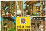 CPIB 16007 CARTE POSTALA - PORTI DE LEMN MARAMURESENE, MOZAIC, Necirculata, Printata