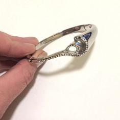 Bratara fixa INOX dama-bijuterii- inox placat cu AUR alb 18K -Produs stantat