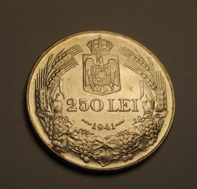 250 lei 1941 NSD Nihil sine Deo Piesa Frumoasa foto