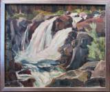 Peisaj cu rau de munte - semnat  Erik Sundgren '76
