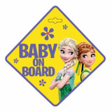 Indicator Baby On Board Frozen, galben
